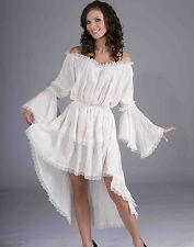 Medieval White Chemise Renaissance Underwear Gown Womens Halloween Costume STD