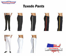 CONCITOR Men's TUXEDO Dress Pants Flat Front Satin Band Mens Tux Pant Trousers