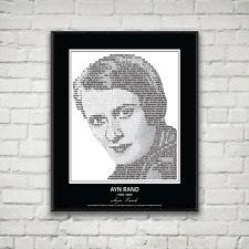 Original Ayn Rand Poster in her own words. Image made of Ayn Rand Quotes!