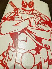"Red Deadpool Custom Car Decal Sticker 7"" x 10"""
