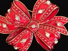 VALENTINE CELEBRATION CHRISTMAS SURPRISE BIRTHDAY PRESENT PACKAGE RED BOW BROOCH