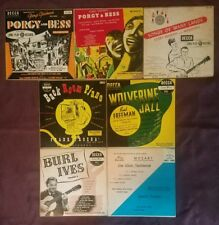"Lot of 7 10"" Porgy & Bess, Bud Freeman, Back Room Piano, Songs of Many Lands"