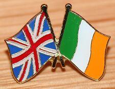 UK & IRELAND Irish FRIENDSHIP Flag Metal Lapel Pin Badge Great Britain
