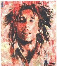 MARCO MARK -BOB MARLEY JAZZ ART -   GICLEE    SIGNED    EDITION OF 10  ON CANVAS