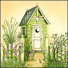 Art Print, Framed or Plaque by Linda Spivey - Cottage Outhouse 2 - LS791-R