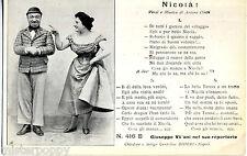 Napoli Nicola Cafe Chantan Song Comic Villains Verse Music PC about 1900 Bideri