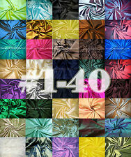 "Taffeta Faux Silk Fabric 60""W For Dress Drape Wedding Decor #1-40"