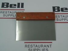 "*NEW* Update WDS-36 Wood Handle 6"" x 3"" Grill / Dough Scraper - FREE SHIPPING!"