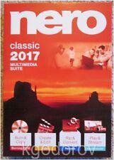 Nero 2017 Classic for Windows – Sealed Retail Box - Brand New