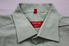 E8446 Eterna Excellent redline Businesshemd Kurzarm 43 Hellgrün, Weiß gestreift
