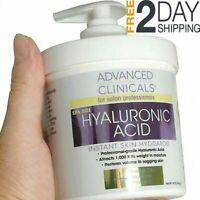 Crema Para Las Arrugas Con Acido Hialuronico Vitamina C y E - Cara Y Cuerp 16oz