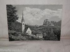 Vecchia cartolina foto d epoca di Ortisei Val Gardeno Gruppo Sella Sassolungo