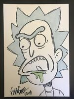 Frank Forte Original Art 7x10 sketch  of your favorite pop culture character