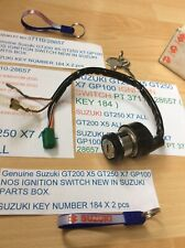 SUZUKI GT200 X5 GT250 X7 GP100 NOS  IGNITION SWITCH PT NO 37110-28657 KEY 184