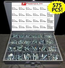575 Piece Metric Bolt Kit Assortment M6 M12 Zinc Class 109 Hardened Grade