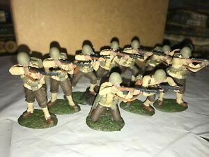 CONTE WWII U.S.INFANTRY SET OF TEN  PROFESSIONALLY PAINTED MINT