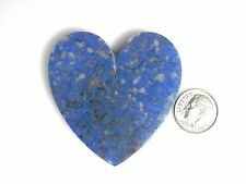 Large Natural Denim Lapis Heart Cabochon Cab gem stone blue gemstone