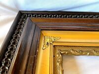 "BIG FITS 16""x 20"" ENGLISH OAK GOLD GILT GESSO ORNATE VICTORIAN PICTURE FRAME"