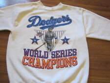 DODGERS VINTAGE 80S TEE SWEAT STYLE WORLD SERIES CHAMPS LARGE DOYERS