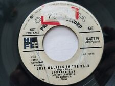 """JOHNNIE RAY - Just Walking In The Rain 1956 PROMO Pop Columbia 7"""" Ray Conniff"""