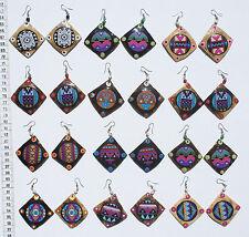 Lot 7 Pairs Color Ethnic Tribal Ornament Peru Dangle Earrings Artisan Jewelry