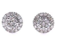 Ladies 14k Halo Diamond Stud Earrings 6mm 0.25ct Retail Value $745!!!!