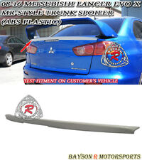 MR-Style Rear Trunk Lip Spoiler Wing (ABS) Fits 08-16 Mitsubishi Lancer EVO 10 X