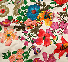 """FLOWER GARDEN Stretch Cotton Fabric 12""""x10"""" remnant"""