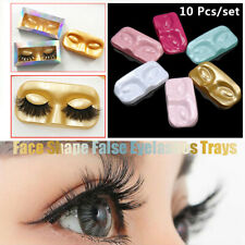 10Pcs Face Shape Packaging Box Eyelash Trays False Eyelashes Lashes Storage Case