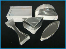 5PCS Educational Optical Glass Prism Set Light Spectrum Physics Teaching Prism