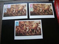 FRANCE - 3 cartes 1er jour 10/1/1981 (sabine) (cy48) french