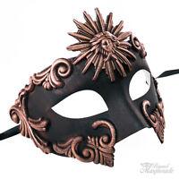 Roman Greek Sun Warrior Venetian Masquerade Mask for Men - Antique Copper