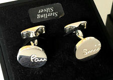 "Paul Smith PS ""VERY RARE"" UNIQUE TWISTED SHAFTS 925 STERLING SILVER Cufflinks"