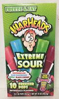 WARHEADS Freezer Pops Extreme Sour 10 Fat Free Pops 4 Sour Flavors 2 boxes