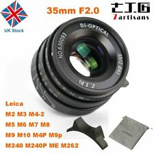 UK 7artisans 35mm F2.0 Manual Fixed Lens f Leica M-Mount Cameras Leica M2 M3
