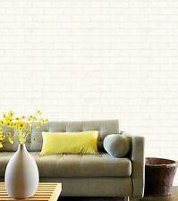 NEW White Brick Effect Blown Vinyl Embossed Textured Paintable Wallpaper