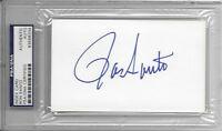 RON SANTO Signed Index CARD Chicago CUBS 3B 1969 HOF MLB Baseball SOX PSA/DNA