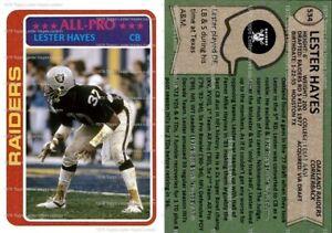 Lester Hayes Oakland Los Angeles Raiders 1978 Custom Rookie Card