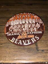 1980 1981 Oregon State Beavers Basketball Orange Express Pin Back Button