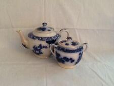 Vintage Rare Flo Blue Teapot and Sugar Gilman CTA Made in Sacavem Portugal Nice