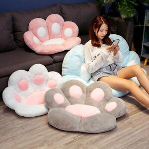 Cute Cat Paw Plush Chair Cushion Child Seat Cushion Sofa Back Pillow Mat Home