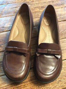 Dansko Women's Sz 39 Leather Comfort Slip-Ons Brown Loafers Clogs Shoes