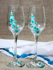 Wedding Glasses, Champagne Glasses, Wedding Flutes, Wedding Decor, Wedding Gift