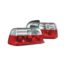 To Fit BMW 3 Series E36 Coupe & Cabriolet Red & Clear Rear Tail Lights Set Pair