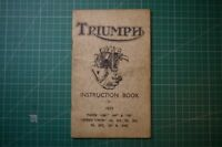 Vintage Triumph Instruction Book for 1939 Tiger Speed Twin all: PB Good+ RARE