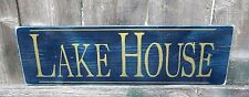 HAND PAINTED RUSTIC  LAKE HOUSE WOOD SIGN  Custom Colors, Lake Decor, Lake Sign