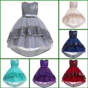 Tutu Dresses Girl Kid Bridesmaid Wedding Flower Dress Formal Princess Baby Party