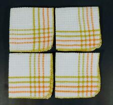 New listing 4 New Vintage Waffle Weave Striped Dish Cloths ~ Nwot