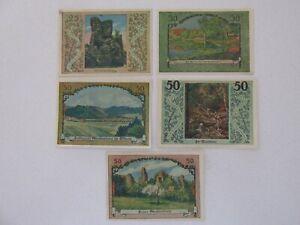 1921 Stecklenberg 25/50 Pfennig Notes Lot of 5
