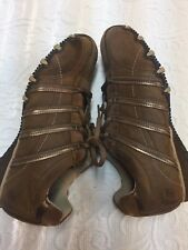 Skechers Boys Size 7M Brown Leather/Synthetic Upper Casual/Comfort Shoes
